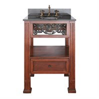 "Napa 25"" Single Bathroom Vanity Set - Dark Cherry"