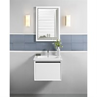 "Fairmont Designs M4 24"" Wall Mount Vanity for Integrated Sinktop - Glossy White 1525-WV24-"