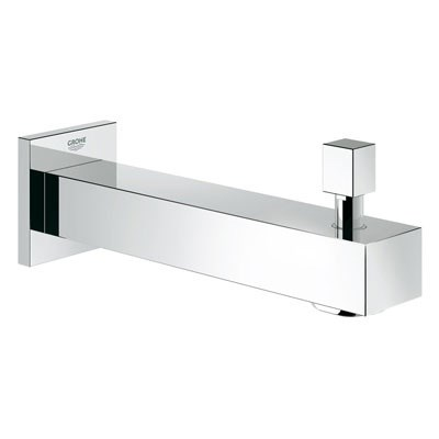"Grohe Eurocube 6 11/16"" Diverter Tub Spout - Starlight Chrome GRO 13307000"