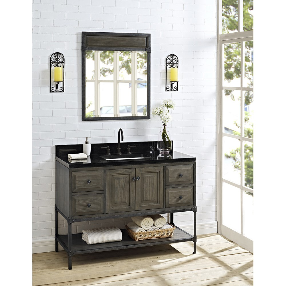 Fairmont Designs Toledo 48 Vanity With Doors Driftwood Gray Free Shipping Modern Bathroom