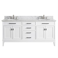"Avanity Madison 72"" Double Bathroom Vanity - White MADISON-72-WT"