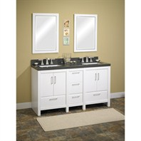 "Fairmont Designs Belleair Beach 60"" Modular Double Vanity - High-gloss White 124-V24x2, 124-DB1221"