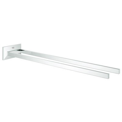 "Grohe Allure Brilliant 17"" Two-Arm Towel Bar - Starlight Chrome GRO 40496000"