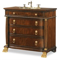 "Cole & Co. 40"" Designer Series Collection Tipton Sink Chest - Pearl Mahogany 11.24.275540.12"