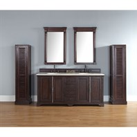 "James Martin 72"" Providence Double Cabinet Vanity - Sable 238-105-5731"