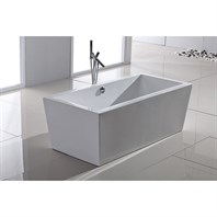 Aquatica PureScape 026 Freestanding Acrylic Bathtub - White Multiple Sizes Aquatica Purescape 026