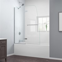 "Bath Authority DreamLine Aqua Ultra Frameless Hinged Tub Door (48"") SHDR-3448580"
