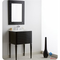 "Fresca Platinum Diamond 24"" Glossy Black Modern Bathroom Vanity FPVN7724BL"