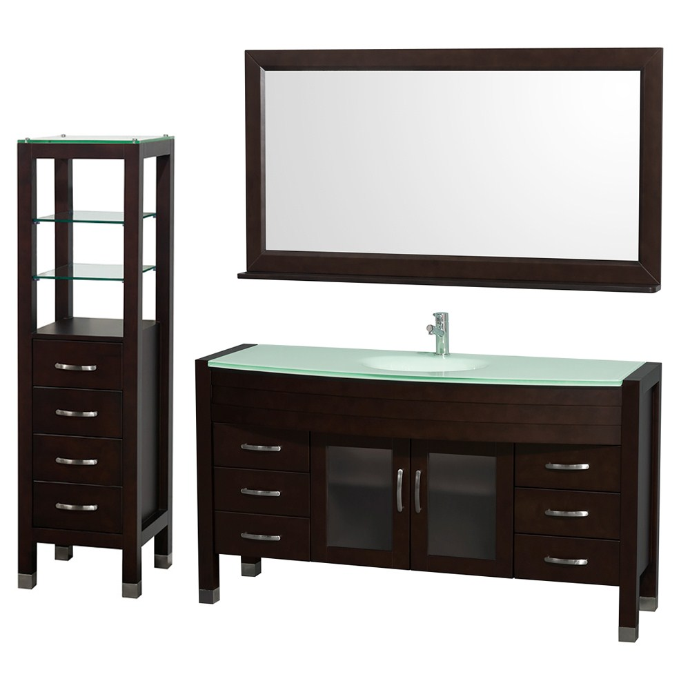 "Daytona 60"" Bathroom Vanity Set by Wyndham Collection - Espressonohtin Sale $1999.00 SKU: WC-A-W2109-60-ESP-SET- :"