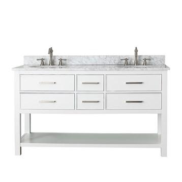 """Avanity Brooks 60"""" Double Bathroom Vanity, White BROOKS-60-WT by Avanity"""