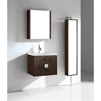 "Madeli Palermo 24"" Bathroom Vanity with Quartzstone Top - Walnut Palermo-24-WA-Quartz"