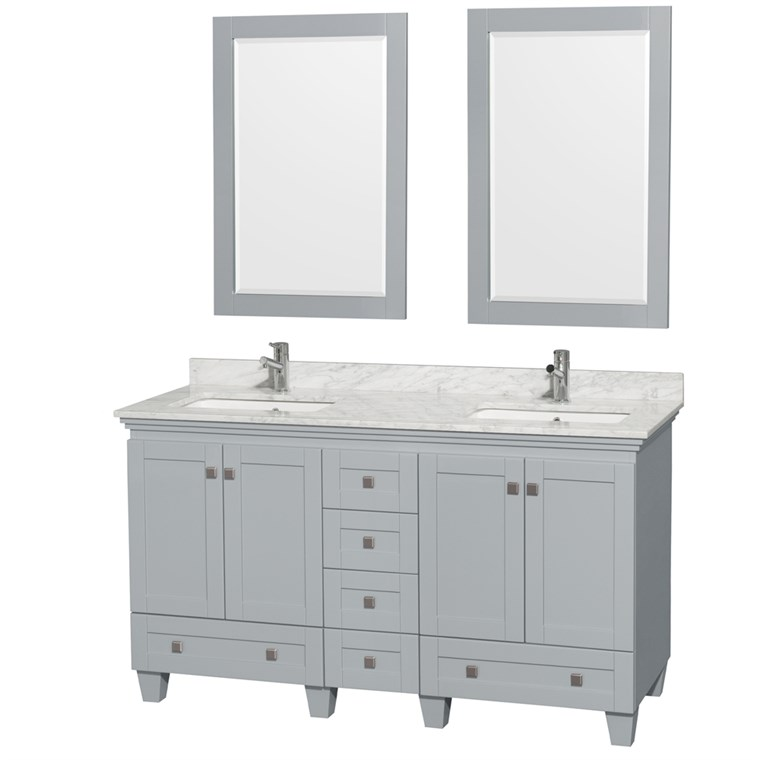 Acclaim 60 in. Double Bathroom Vanity - Oyster Gray WC-CG8000-60-DBL-VAN-OYS-