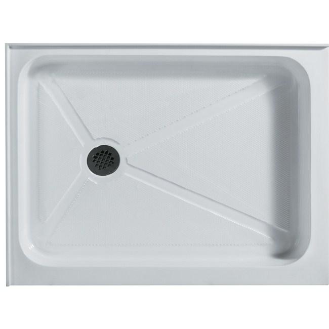 "Vigo Industries Rectangular Double Threshold Shower Base - 32"" x 48""nohtin Sale $528.99 SKU: VG06019WHT3248 :"