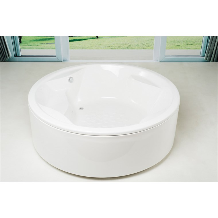 Aquatica Allegra-Wht Acrylic Bathtub - White Aquatica Allegra