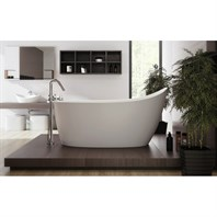 Aquatica Emmanuelle 2 Freestanding Solid Surface Bathtub - Matte White Aquatica Emma-Wht-2