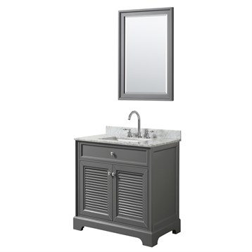 Tamara 30 Single Bathroom Vanity by Wyndham Collection - Dark Gray