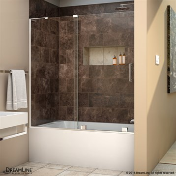 Bath Authority DreamLine Mirage X 56   60 In. W X 58 In. H Sliding Tub Door  | Free Shipping   Modern Bathroom