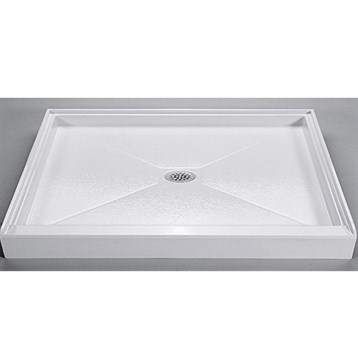 "MTI MTSB-6042CD Shower Base, 59.5"" x 41.75"" by MTI"