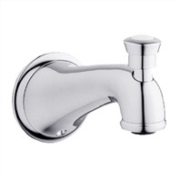 Grohe Seabury Wall Mounted Diverter Tub Spout - Starlight Chrome