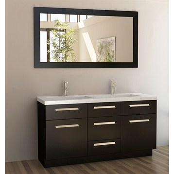 60 double sink vanity. Design Element Moscony 60  Double Sink Vanity Set Espresso Free Shipping Modern Bathroom