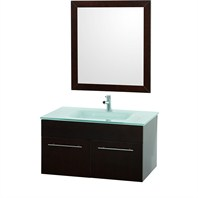 "Genoa 36"" Wall Mount Single Bathroom Vanity Set - Espresso K-W052-36-ESP"