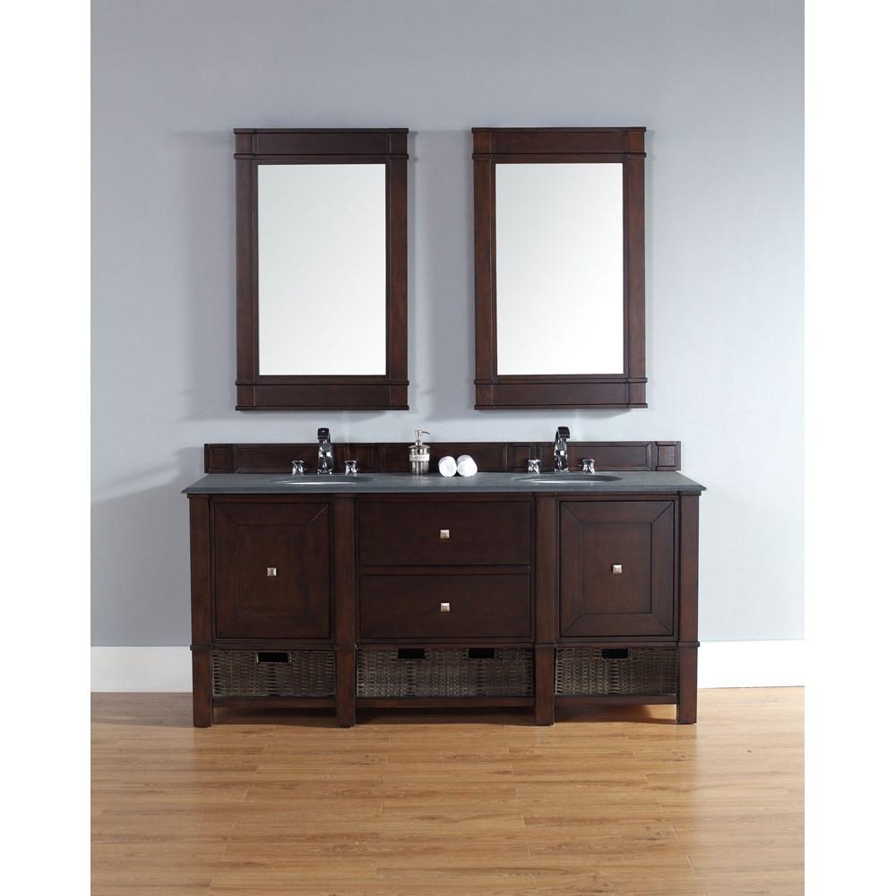 James Martin 72 Madison Double Vanity Burnished Mahogany Free Shipping Modern Bathroom