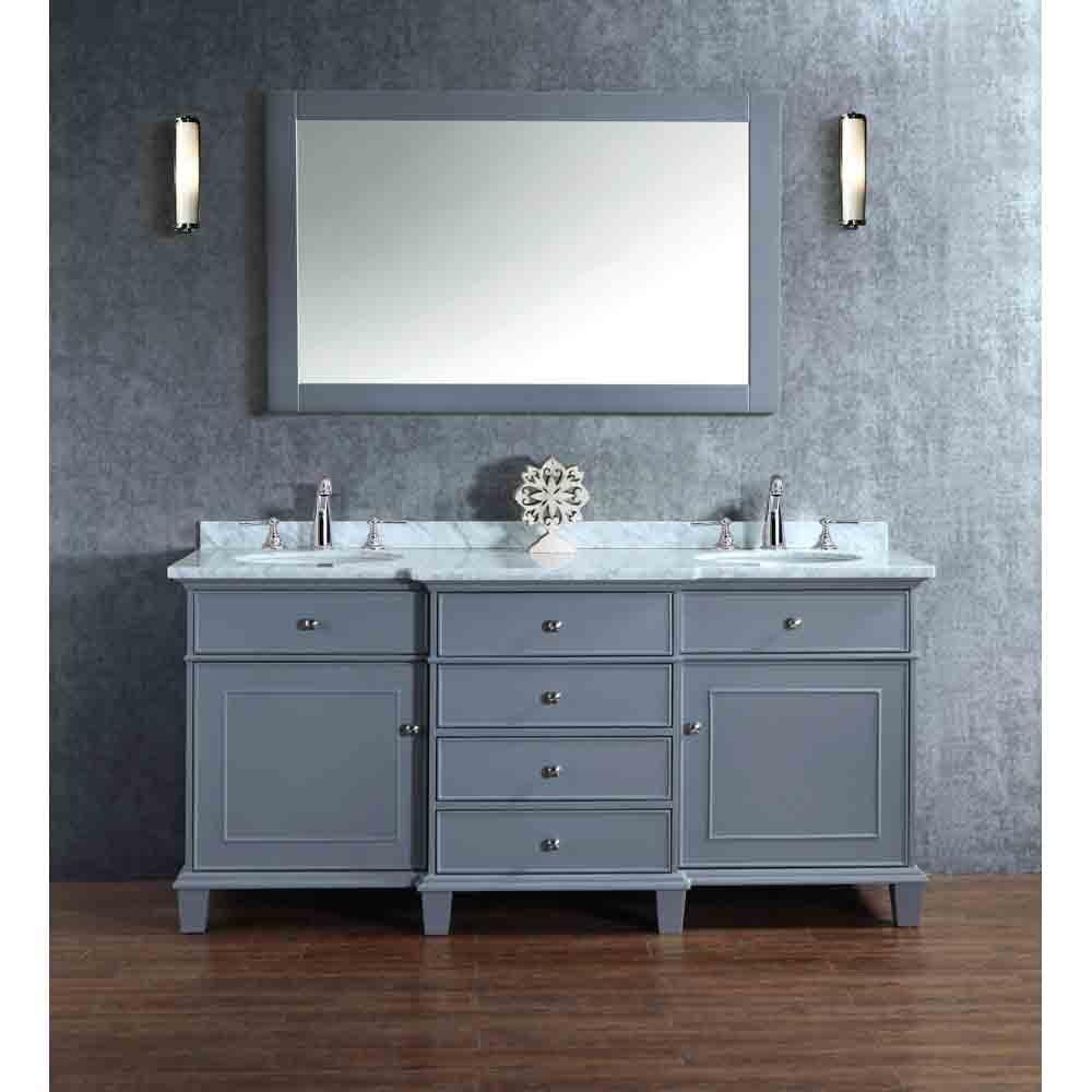Stufurhome Cadence Grey 72 Quot Double Sink Bathroom Vanity