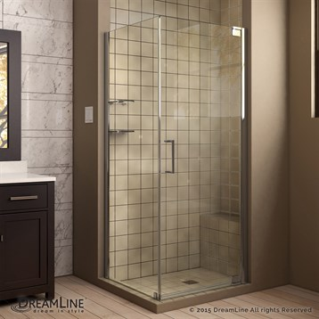 "Bath Authority DreamLine Elegance Frameless Pivot Shower Enclosure, 30"" by 34"" SHEN-413034 by Bath Authority DreamLine"