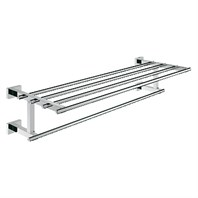 "Grohe Essentials Cube Towel Holder with Shelf, 24"" - Chrome GRO 40512000"