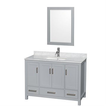 Sheffield 48 single bathroom vanity by wyndham collection for A c bathrooms sheffield