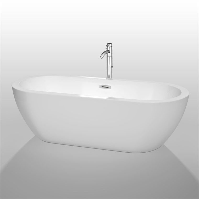 "Soho 72"" Soaking Bathtub by Wyndham Collection - White WC-BTM1002-72"