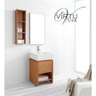 "Virtu USA Curtice 20"" Single Sink Bathroom Vanity Set - Chestnut ES-2020-C-CH"