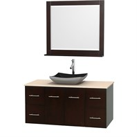 "Centra 48"" Single Bathroom Vanity Set for Vessel Sink by Wyndham Collection - Espresso WC-WHE009-48-SGL-VAN-ESP"