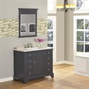 "Fairmont Designs Framingham 42"" Vanity for Integrated Top - Obsidian 1508-V42-"
