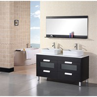 "Design Element Designer's Pick 55"" Bathroom Vanity - Espresso DEC019"
