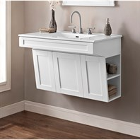 "Fairmont Designs Shaker Americana 36"" Wall Mount Vanity - Polar White 1512-WV3621"