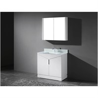 "Madeli Savona 36"" Bathroom Vanity for Integrated Basin - Glossy White B950-36H-001-GW"
