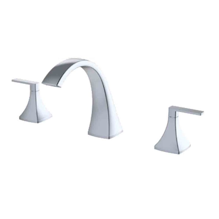 fluid Oceanside Dual Handle Widespread Deck-Mount Tub Filler Trim Set F2312T-