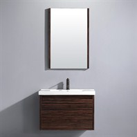 "Vigo 32"" Espresso Petit Single Bathroom Vanity with Mirror - Ebony VG09035109K"