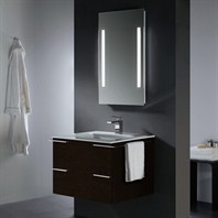 Vigo 31-inch Single Bathroom Vanity with Mirror and Lighting System - Wenge VG09003104K