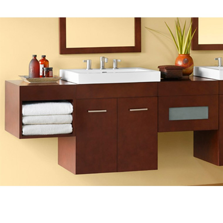 "RONBOW Bella 23"" Vanity Integrated - Dark Cherry RONBOW 011223-H01-INTEGRATED"