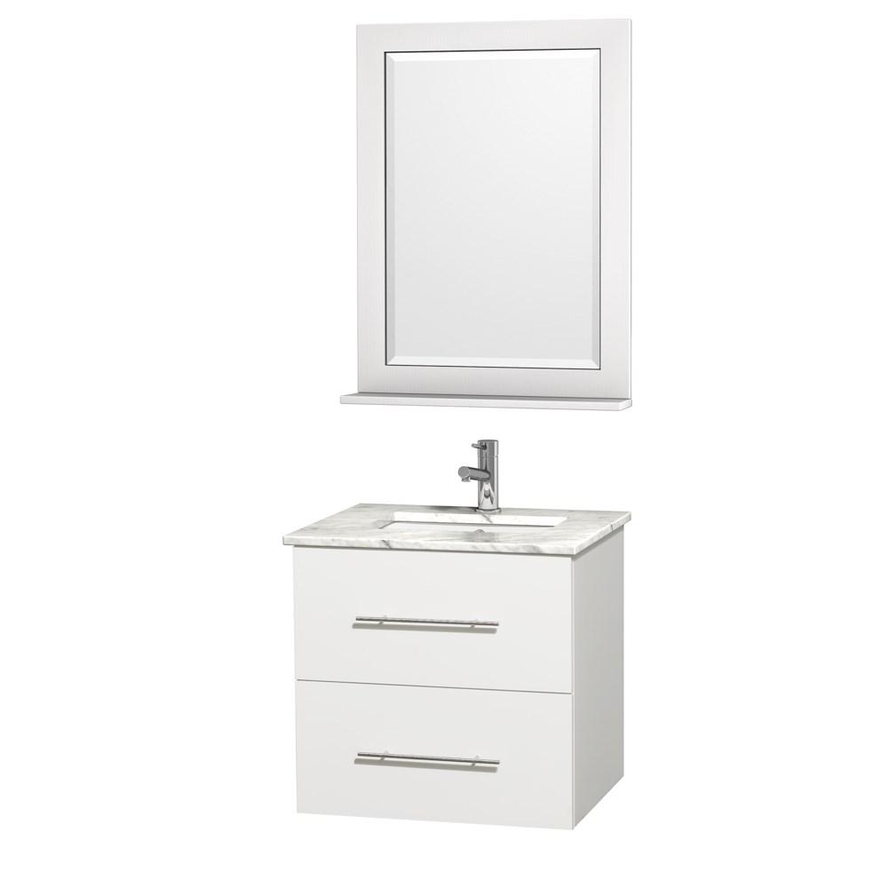 "Centra 24"" Single Bathroom Vanity for Undermount Sinks by Wyndham Collection - Matte Whitenohtin Sale $749.00 SKU: WC-WHE009-24-SGL-VAN-WHT- :"