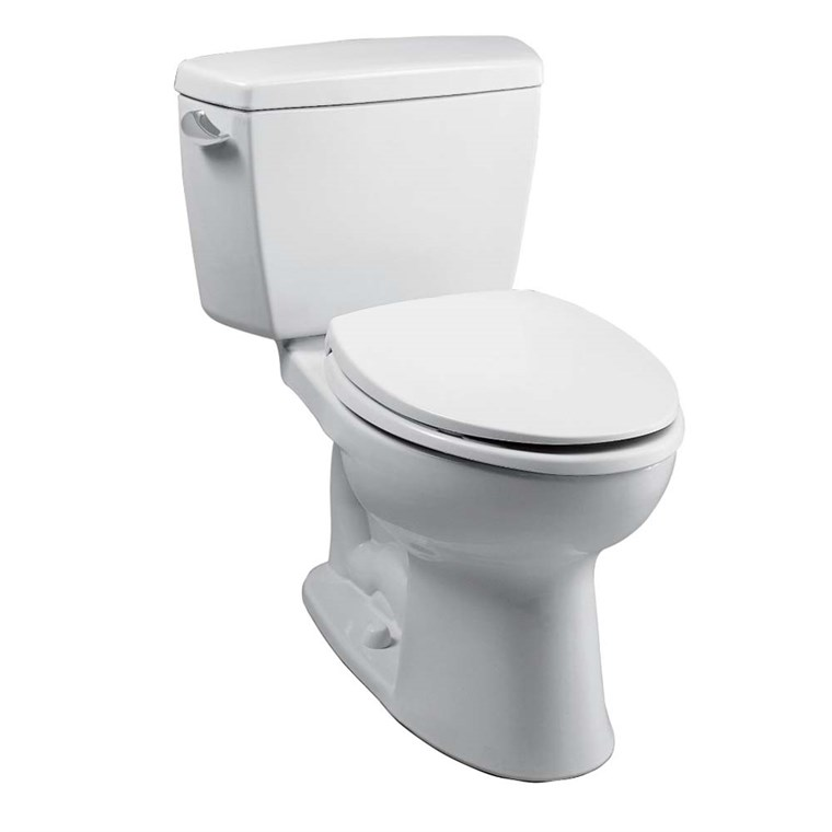 "TOTO Eco Drake Two-Piece Elongated Toilet with 10"" Rough-In, 1.28 GPF CST744EF.10"
