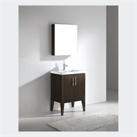 "Madeli Caserta 24"" Bathroom Vanity with Integrated Basin - Walnut Caserta-24-WA"