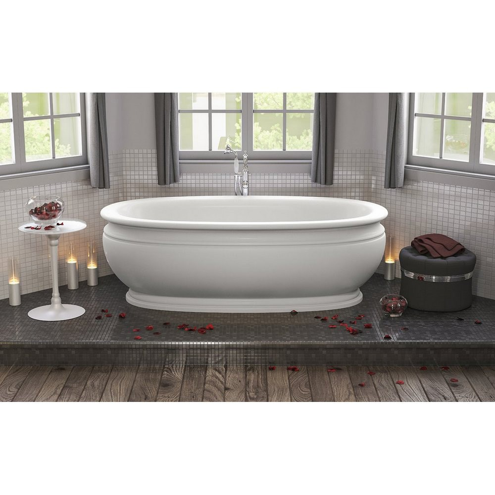 Aquatica Olympian by Savio Roman Freestanding Solid Surface Bathtub Matte White