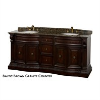 "Roosevelt 72"" Traditional Double Bathroom Vanity by Wyndham Collection - Cherry WC-G5000-72-CH"