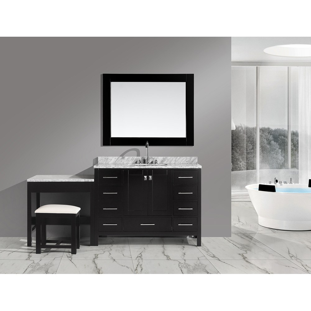 "Design Element London 48"" Vanity Set with Make-up Table - Espressonohtin Sale $1899.00 SKU: DEC082C_MUT :"