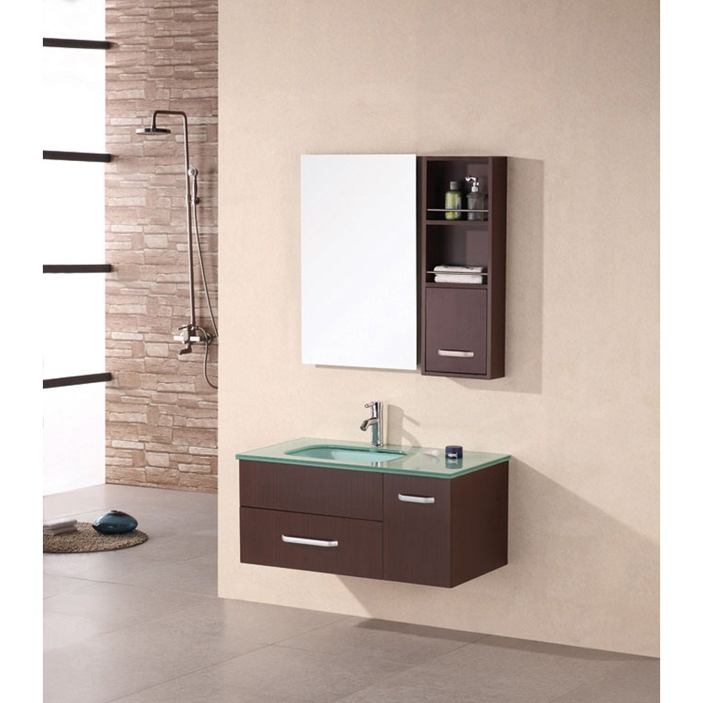 "Design Element Christine 35"" Single Bathroom Vanity Set - Espressonohtin Sale $899.00 SKU: DEC1107 :"