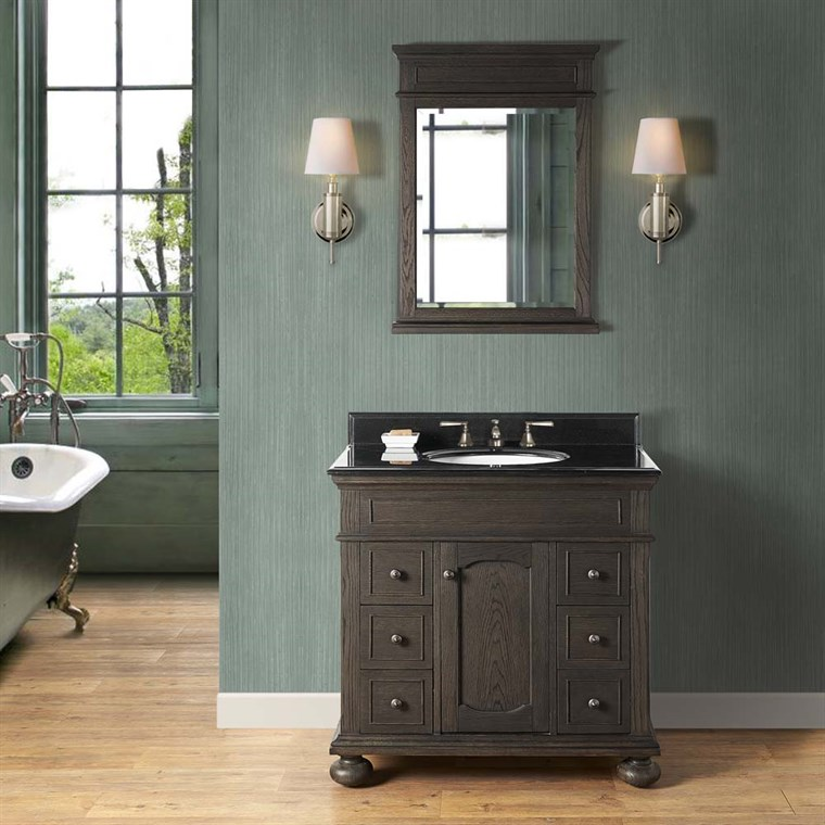 "Fairmont Designs Oakhurst 36"" Vanity for Undermount Oval - Burnt Chocolate 1536-V36_"