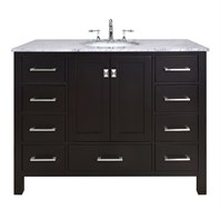"Stufurhome 48"" Lissa Espresso Single Sink Bathroom Vanity GM-6412-48ES-CR"